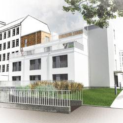 """""""Nowa Oficyna"""" budynek mieszkalny przy ul. Komuny Paryskiej 72"""